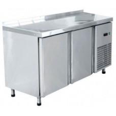 Стол холодильный низкотемпературный СХН-60-01 неохлаждаемая столешница с бортом (дверь, дверь)