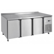 Стол холодильный низкотемпературный СХН-60-02 неохлаждаемая столешница с бортом (дверь, дверь, дверь)